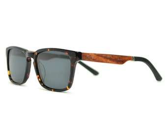 Sale Wood Sunglasses, Mens Wood Frame Sunglasses, Real Wood Tortoise Sunglasses - MDW-TRT