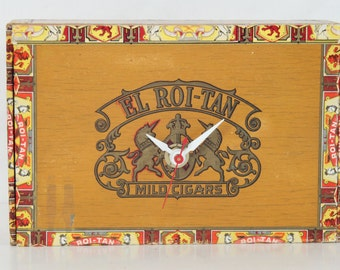 El Roi-Tan Cigar Box, Desk Clock, Smoking, Tobacciana, Geekery, Clocks by DanO