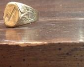 Robins Co Attleboro Check Mark Adjustable Ring