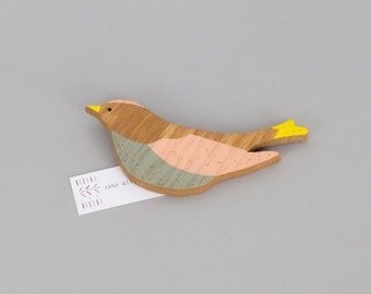 Wooden Wall Bird - Firecrest Wall Bird