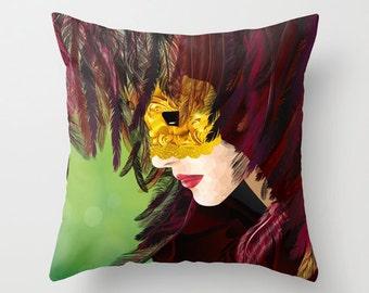 Venetian mask pillow Venice Carnival Cushion Covers Pillow Cover Pillow Case Throw Decorative Throw Accent Pillow 20x26 pillow 20x36 pillow