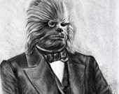6in x 9In Print of a Reese Hilburn Original Drawing: Gentleman Wookie