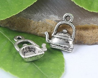 Tibetan Silver Teapot Findings 25PCs H0040