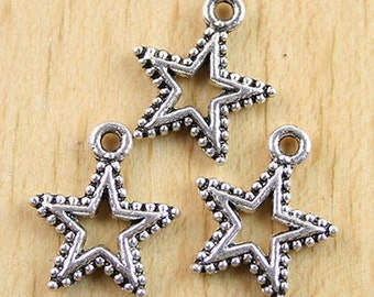 10pcs star pentagram charm pendants (H0154=h0691,h2154 or h2329)
