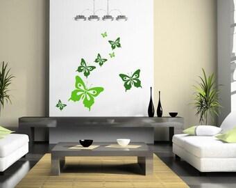 Wallsticker (164n) - Butterflies (vlinders,schmetterlinge)