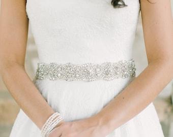 Wedding Dress Sash - Rhinestone - Pearl - Swarovski - GEORGIA Sash - BEST SELLER