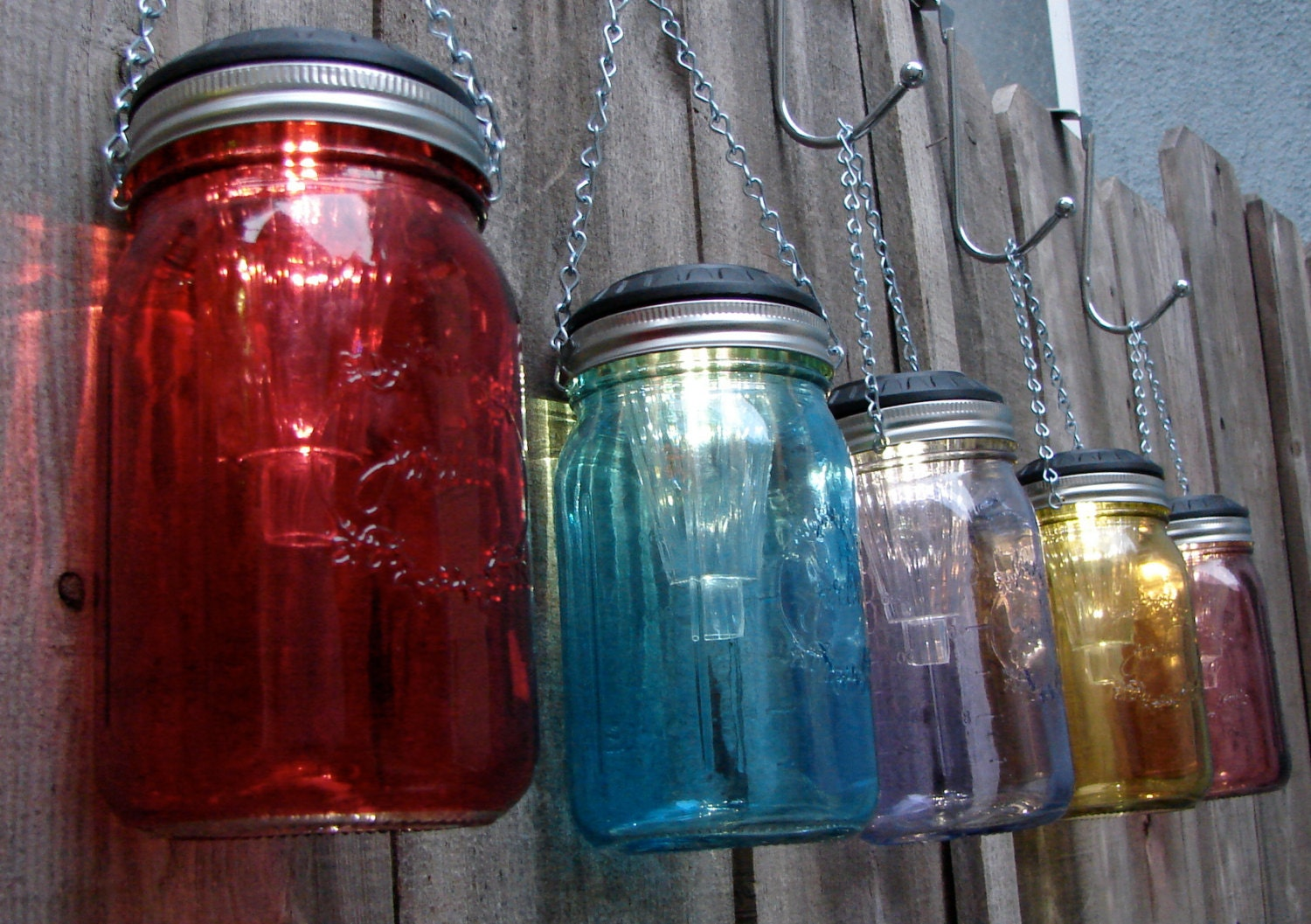 handmade hanging solar mason jar lights choose by