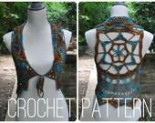 Crochet Pattern - Starflower Mandala Vest