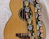 Day of Dead Sugar Skulls Guitar Strap