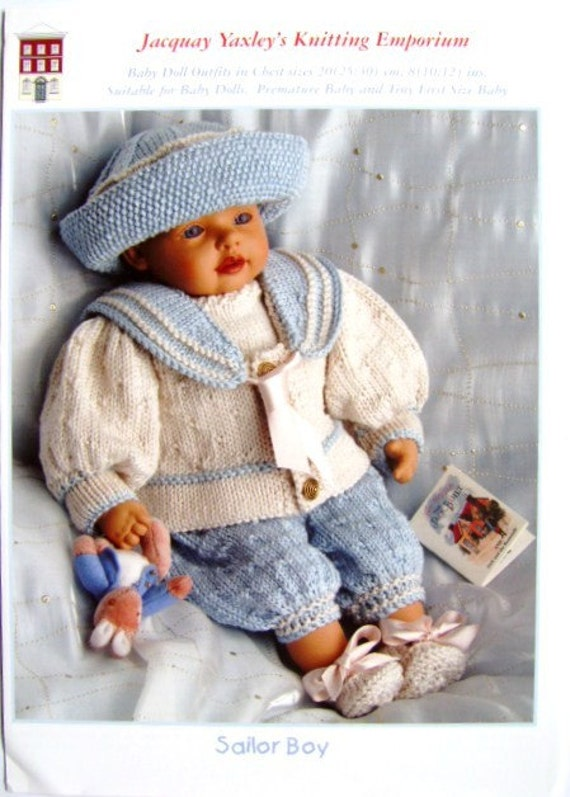Knitting Pattern For Sailor Doll : baby doll knitting pattern at sailor suit dk wool 8/12 in