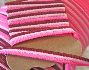 4Y Shades of Pink Vintage Twill Trim 3/8""
