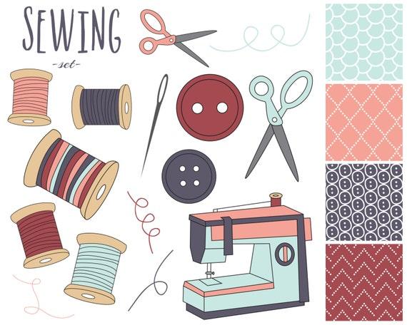 Clip Art Sewing Machine Clip Art 60 off sale sewing digital clipart machine clip art craft il 570xn