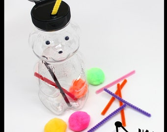 Honey Bear Sticks and Stones - Fine Motor Busy Bag