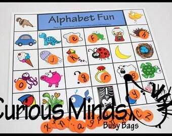 Alphabet Fun Busy Bag and Quiet Activity