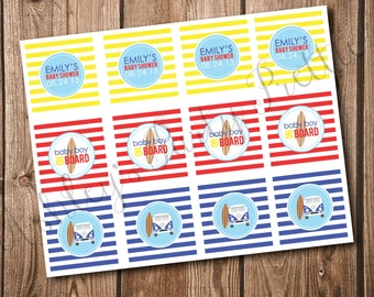 Surfer Baby Shower Cupcake Toppers