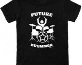 Future Drummer Toddler & Kids T-Shirt in Black