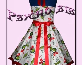 50s Rockabilly/Psychobilly Alternative *Grinch Stole Christmas Dr Seuss* Dress