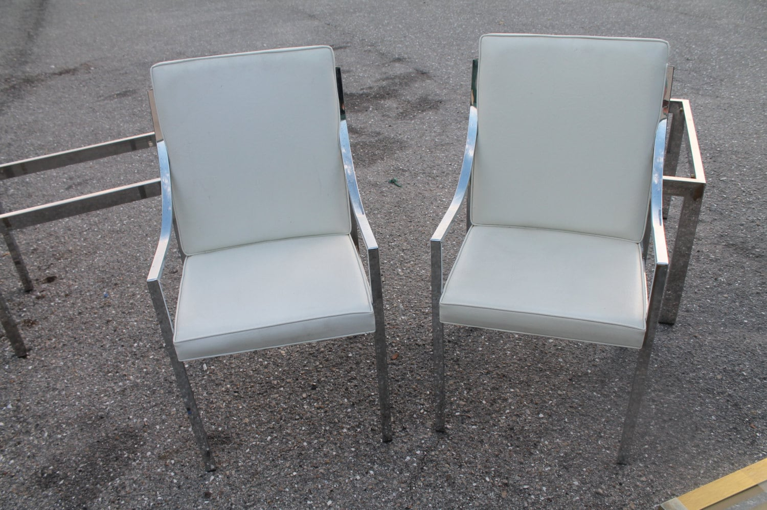 clearance vintage pair chrome dining arm chairs by feelinvintage