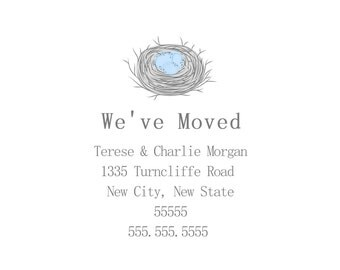 Design & Print Combo Nest Moving and New Address Announcement