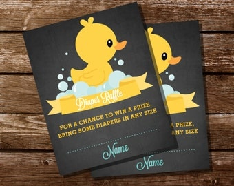 Items Similar To Custom Boy Rubber Duck Baby Shower Invite