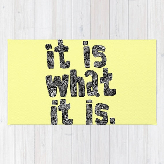 It Is What It Is Rug Yellow Rug Funny Bath Mat Yellow Bath