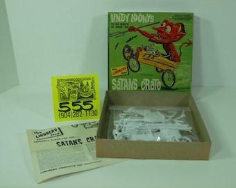 """1960's Lindberg """"Lindberg Loonies"""" Satan's Crate-Original issue"""