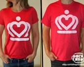 Charlotte, NC Crown Heart Logo Tshirt (Unisex Tshirt)