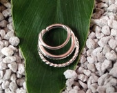 Argentium Silver Septum Ring with twisted wire