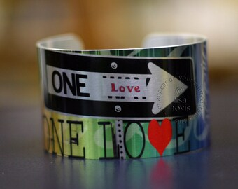 One Love Metal Cuff Bracelet