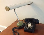 Vintage Mid Century Modern Black Rotary Telephone by New England Telephone