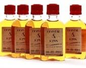 Custom Fireball Mini Liquor Bottle Labels, Wedding Favors, Gifts, 50 ml Mini Bottle Labels, Burned Design