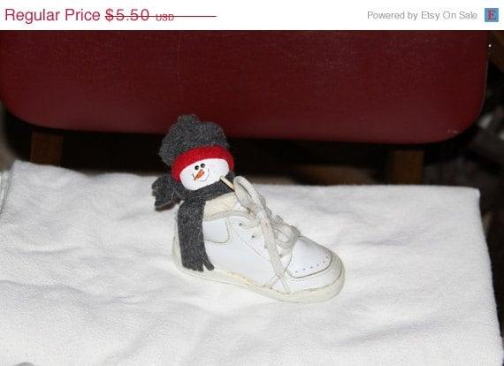Clearance Sale Snowshoe Christmas Decoration Baby Shoe Snowman