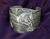Friesian Horse cuff bracelet