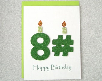 Birthday Card - 81st, 82nd, 83rd, 84th, 85th, 86th, 87th, 88th, 89th
