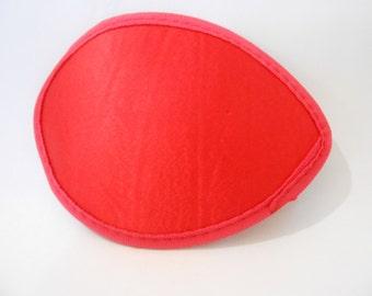 "5"" Red Teardrop Fascinator Base"