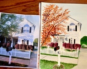 Home painting , house painting, custom watercolor painting