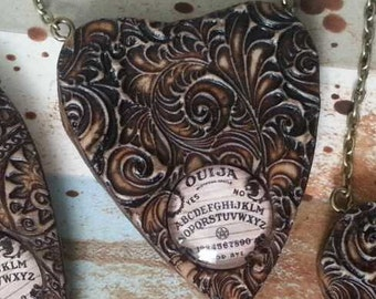 Stunning hand crafted Ouija Planchette necklace