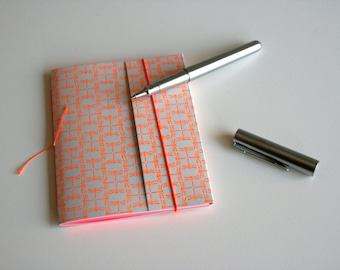 Letterpers notebook handmade with dragonfly pattern