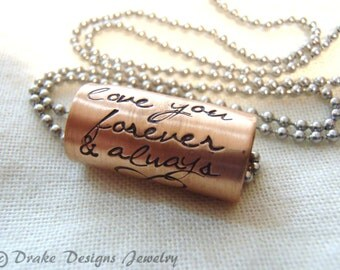 Custom quote necklace Personalized text necklace inspirational quote