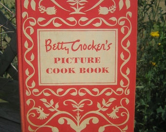 Vintage Betty Crocker New Picture Cook Book 1950 First Edition Sixth Printing
