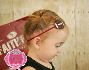 Cute Football Feltie Headband, Girls, Baby, Toddler, Photo Prop, Superbowl