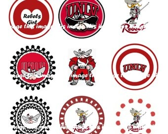 Printable UNLV Bottle Cap Images (One Inch Circles)