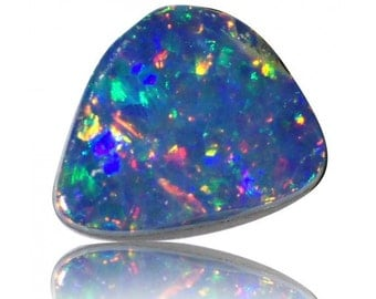 0.52ct Australian Opal Doublet Coober Pedy, Natural Untreated Loose Opal Piece SKU: 1879A001