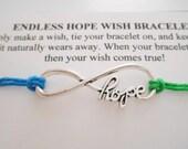 HOPE INFINITY Wish Bracelet - Blue & Green