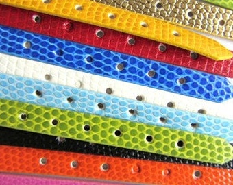 10 pieces MIXED COLOR BANDS 8mm  Leather