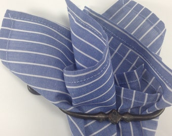 pocket square dusty blue