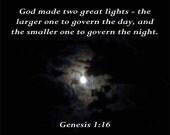 Moonlight1, Genesis 1 verse 16, 8 X 10 Instant Digital Download