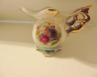 Vintage Miniature Cup with Courting Scene