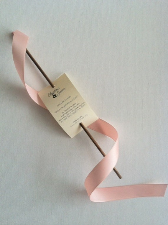 Wedding Ribbon Wand Tags Deposit
