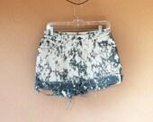 Bleach Splatter Ralph Lauren High Waisted Shorts Size 8